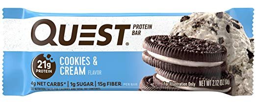 Quest Nutrition Cookies and Cream Protein Bar